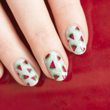 Watermelons nail art by Magdalena