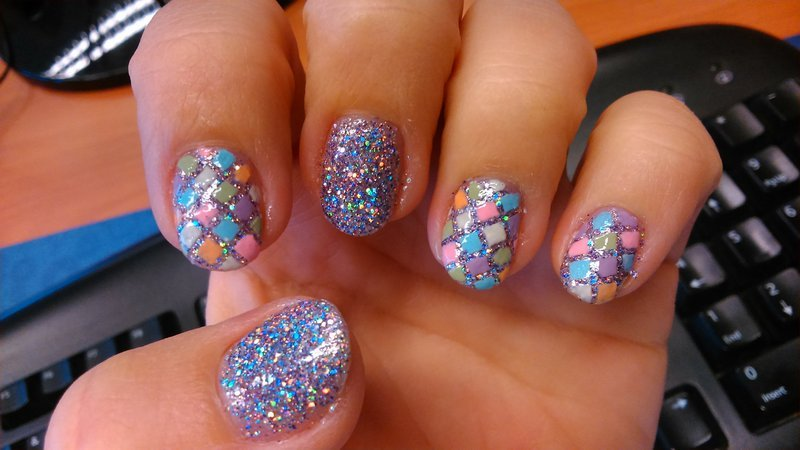 Saturday Night Fever  nail art by Nail Crazinesss