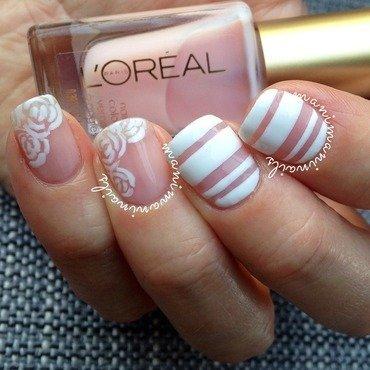 Spring bridal nails nail art by manimaninails