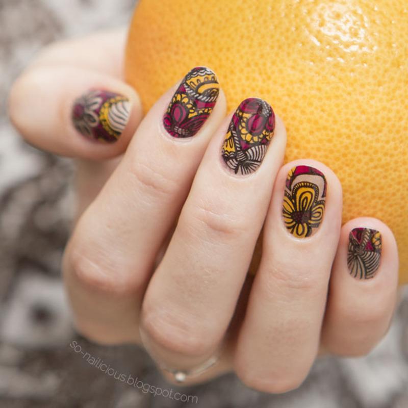 Reverse stamping nail art by Magdalena - Nailpolis: Museum of Nail Art