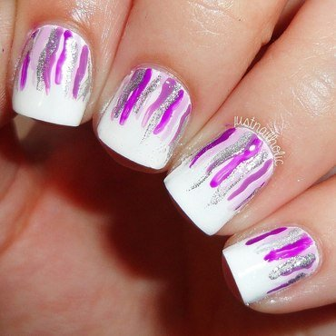 Waterfall  nail art by Melany Antelo