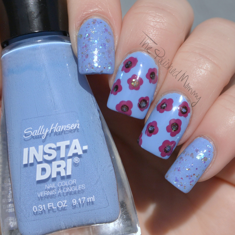NEW Sally Hansen Insta-Dri Colors nail art by The Polished Mommy