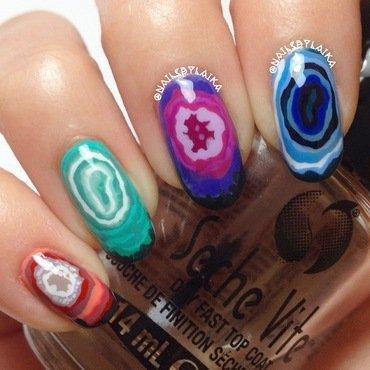 Agate Nail Art nail art by Cristina