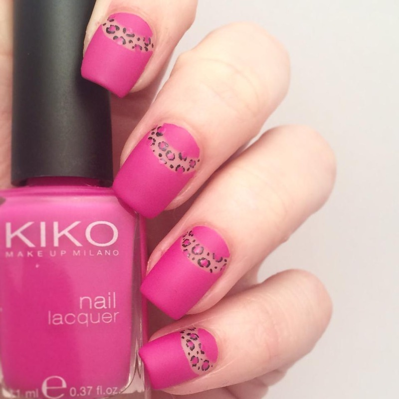Negative space leopard print nails nail art by ClumsyPaintsNails