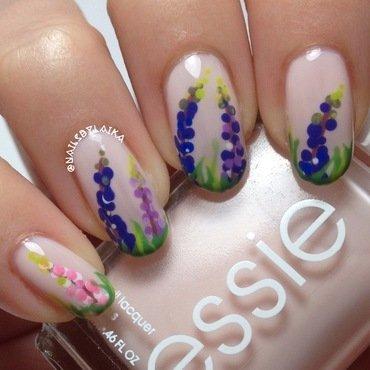Lupine Nail Art nail art by Cristina