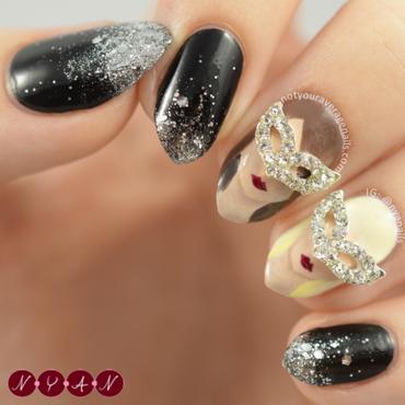 Masquerade nail art by Becca (nyanails)