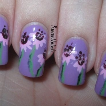 May Flowers nail art by Lynni V.