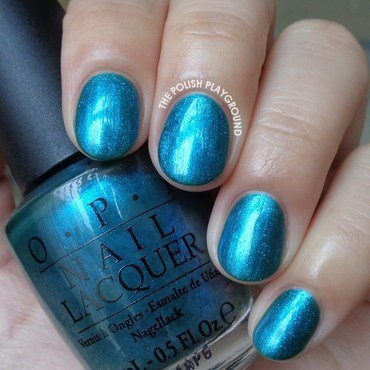 OPI Austin-tatious Turquoise Swatch by Lisa N
