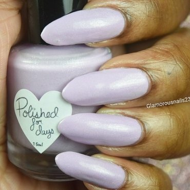 Polished For Days Love The Way You Li-Lac Swatch by glamorousnails23