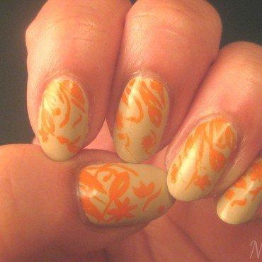 Carolina Herrera inspired nail art by Nell_Q