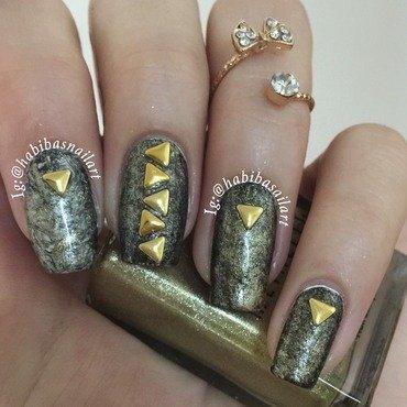 Saran wrap metalic nail art nail art by Habiba  El-kallas