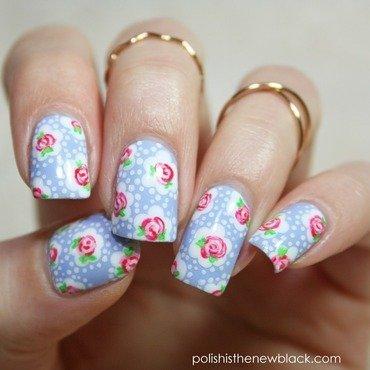 Cath Kidston Nail Art nail art by Polishisthenewblack