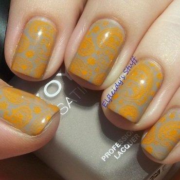 52WPNMC- taupe/paisley nail art by Jenette Maitland-Tomblin