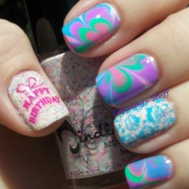 Birthday nails! nail art by Jenette Maitland-Tomblin