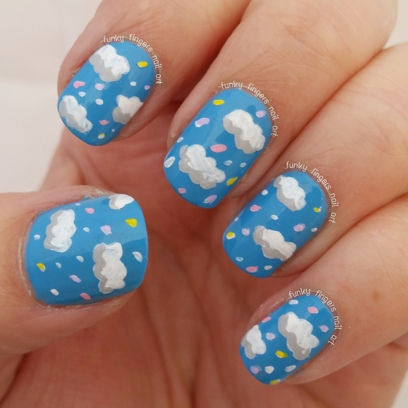 Cloud Nails Nail Art By Funky Fingers Nail Art Nailpolis Museum