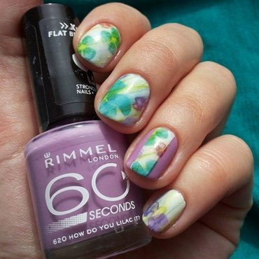 Flowers' day nail art by Roxy Ch