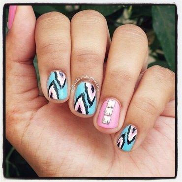 Ikat nails nail art by Shailee
