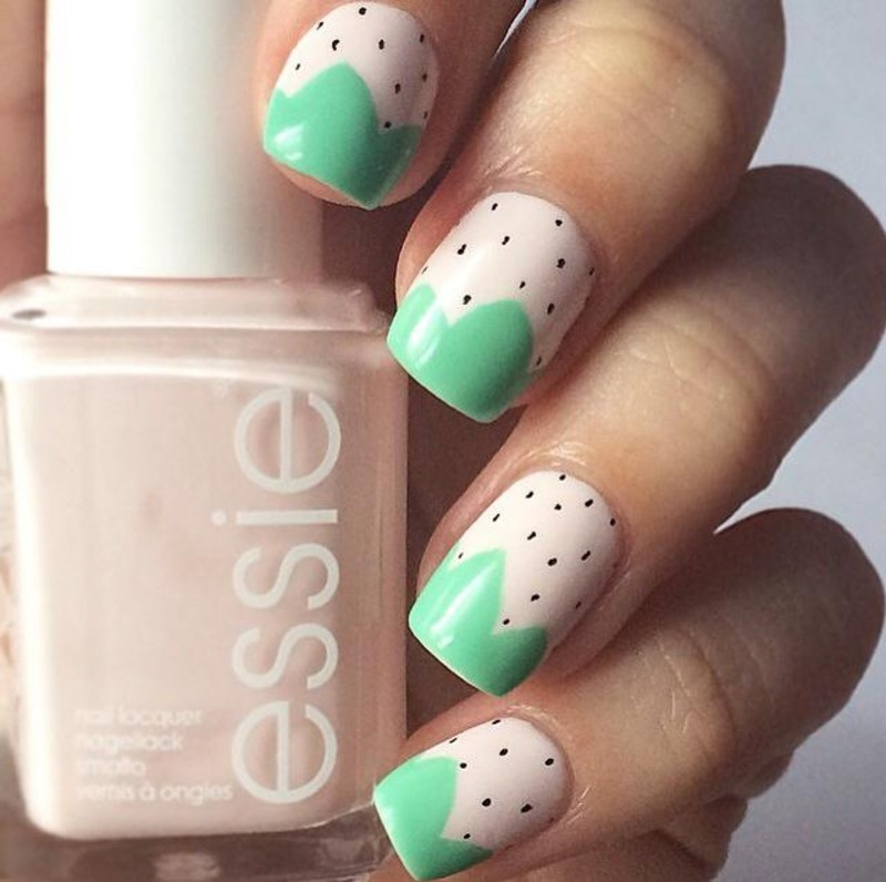 Pastel Strawberries nail art by ClumsyPaintsNails