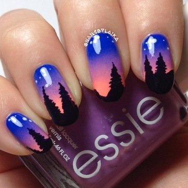 Sunset Nail Art nail art by Cristina