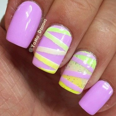 Gradient Lines nail art by JMura_Designs