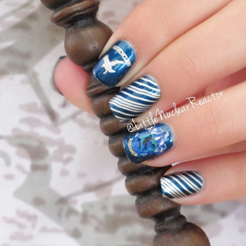 Houses of Hogwarts: Ravenclaw Edition nail art by LittleNuclearReactor