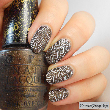 Stamped Texture nail art by Kerry_Fingertips