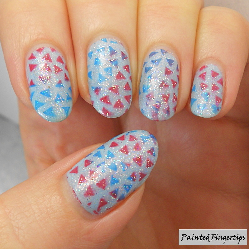 Stamped confetti nail art by Kerry_Fingertips