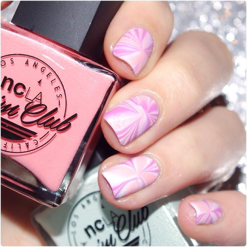 NCLA watermarble ! nail art by Bulleuw