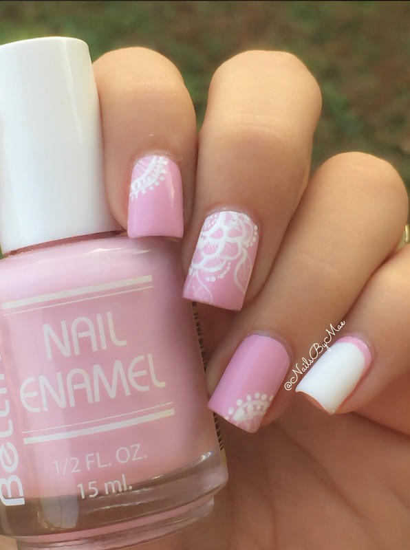 Lace Flower Nail Design nail art by Sheily (NailsByMae)