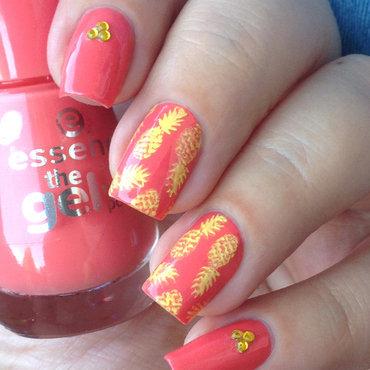 Pineapple nails nail art by Natasha