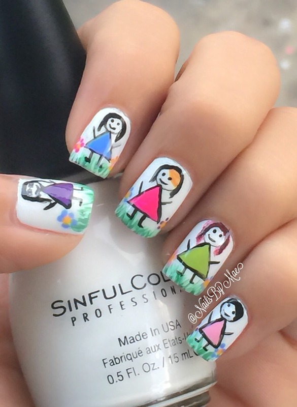Friends forever! nail art by Sheily (NailsByMae)