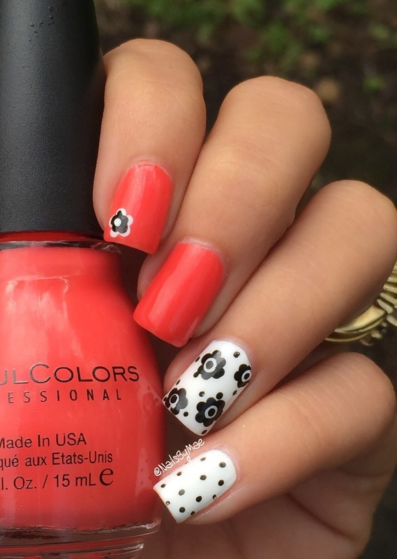 Dots and Flowers nail art by Sheily (NailsByMae)