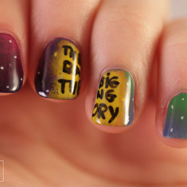 The Big Bang Theory nail art by NerdyFleurty