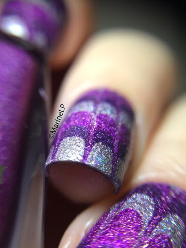 No water marble nails nail art by Marine Loves Polish