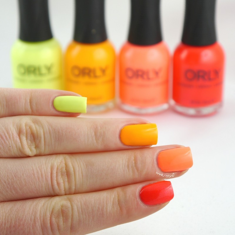 ORLY Tropical Neon Ombré nail art by Ann-Kristin