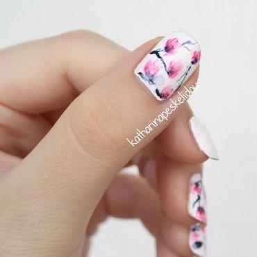 Magnolias #2 nail art by katharinapeskelidou
