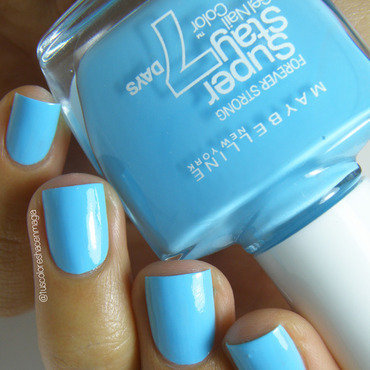 Maybelline Uptown Blue Swatch by Michelle Mullett