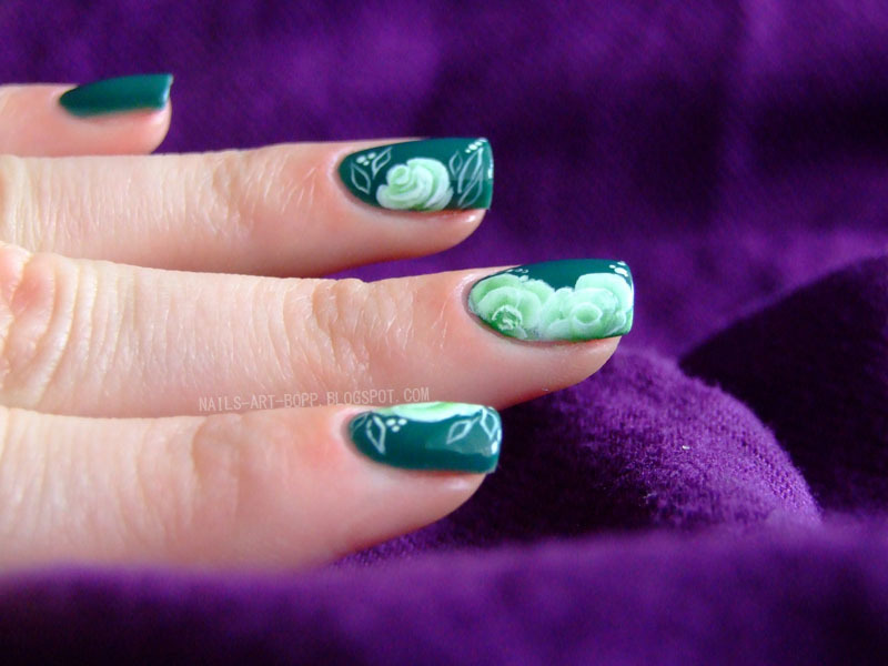 one stroke nail art by bopp