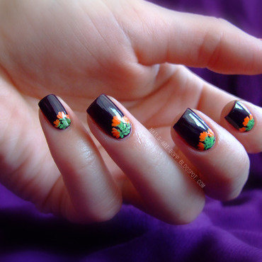 Floral chevron nail art by bopp