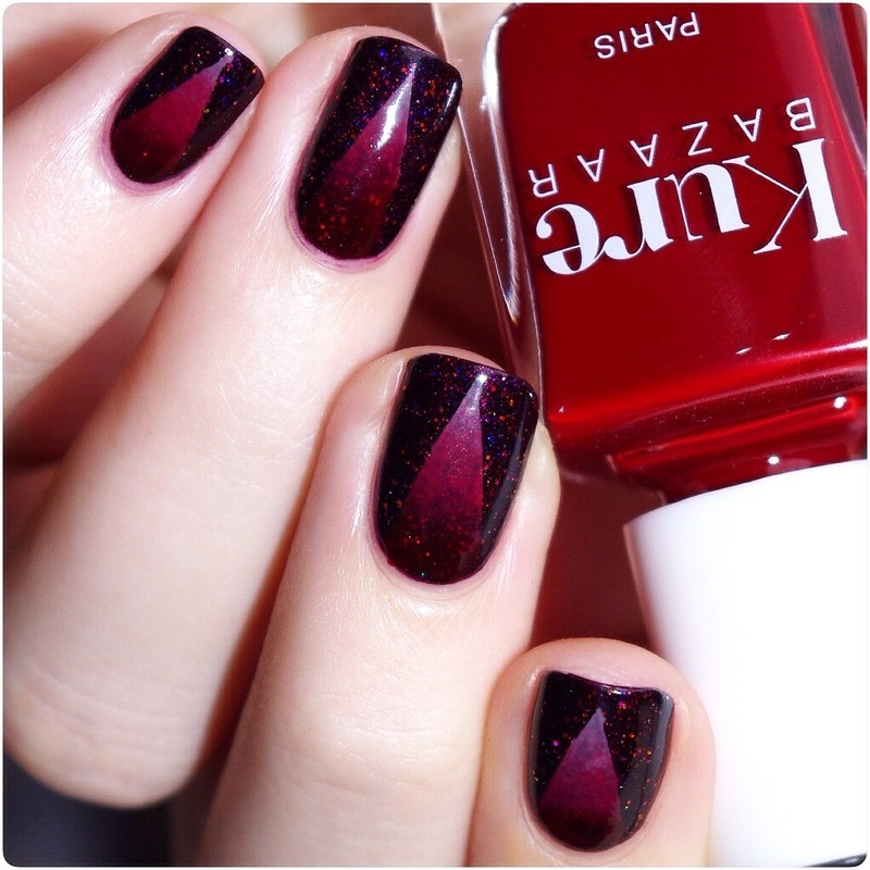 Red ! nail art by Bulleuw