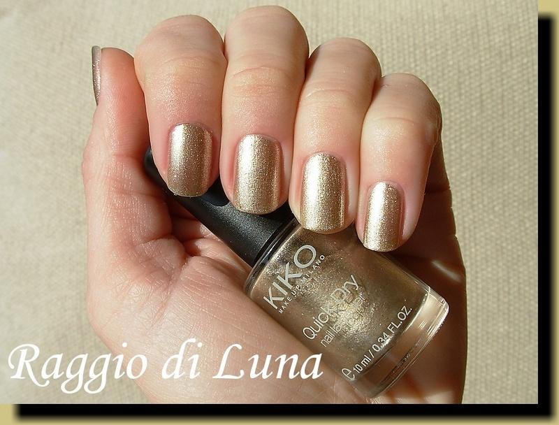 Kiko Quick Dry Nail Lacquer n° 859 Metallic Gold Swatch by Tanja