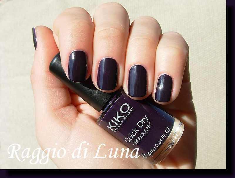 kiko quick dry n° 829 Blueberry Swatch by Tanja