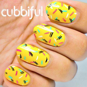 Yellow donut nails thumb370f