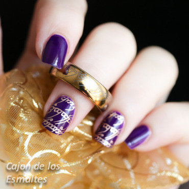 Lord of the rings inspired nail art nail art by Cajon de los esmaltes