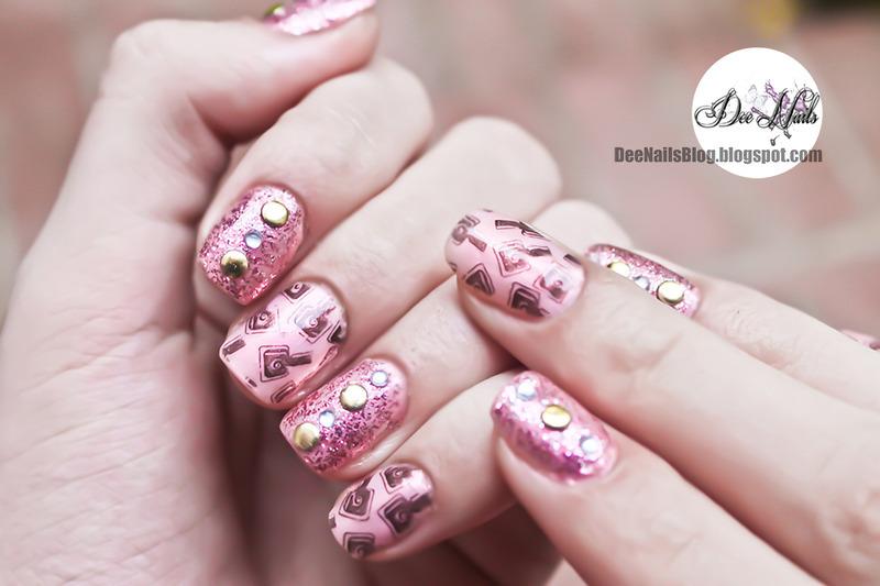 Cute polish bottles nail art by Diana Livesay