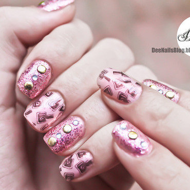 Cute polish bottles nail art by Diana Livesay