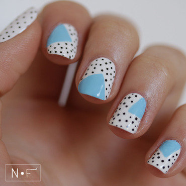 Abstract & Pastel for Summer nail art by NerdyFleurty