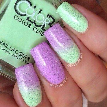 Pastel neon gradient  nail art by Virginia