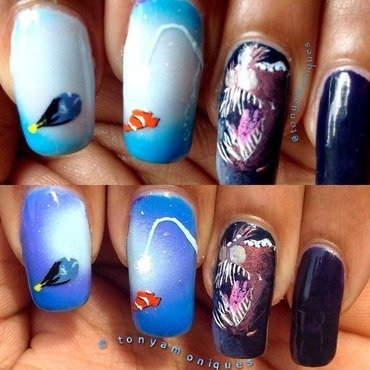 Finding Nemo nail art by Tonya Simmons