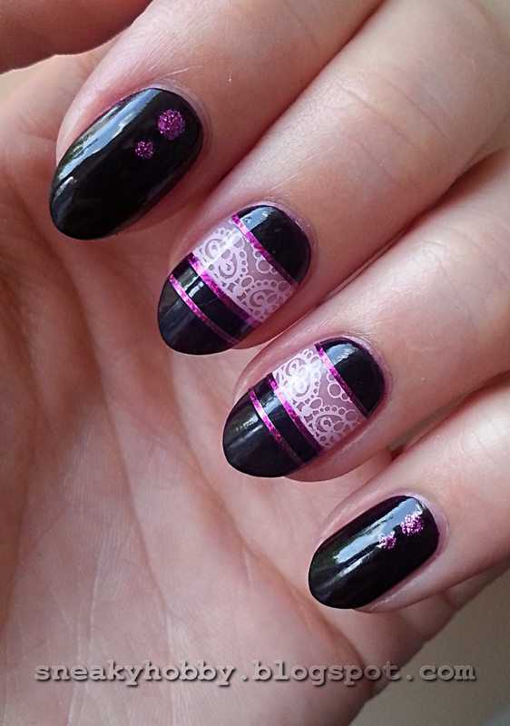Stamping Maniac Project - All At Once nail art by Mgielka M